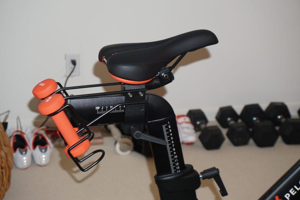 Easy to adjust Peloton bike seat