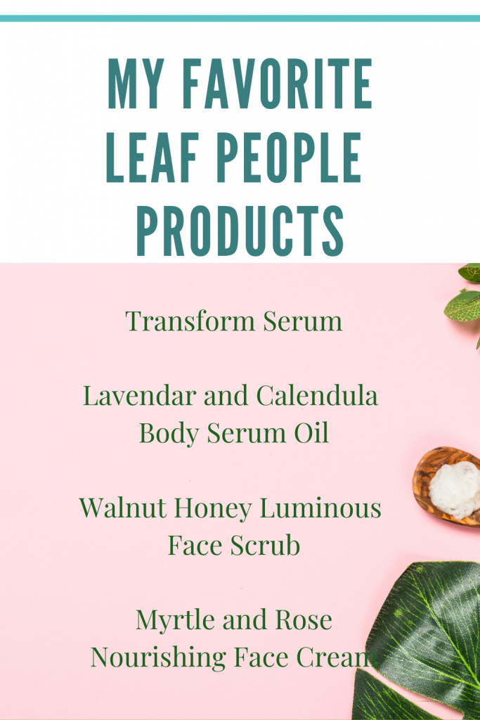 Leaf People Organic skincare products